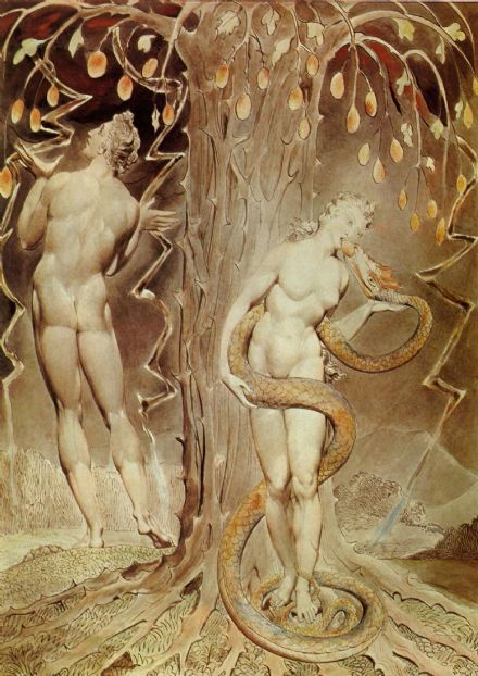 Blake, William: The Temptation and Fall of Eve. Fine Art Print/Poster. Sizes: A4/A3/A2/A1 (00454)